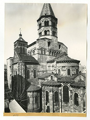 Notre Dame Port - Basilica of Notre-Dame du Port - Vintage Publication Photograph - France