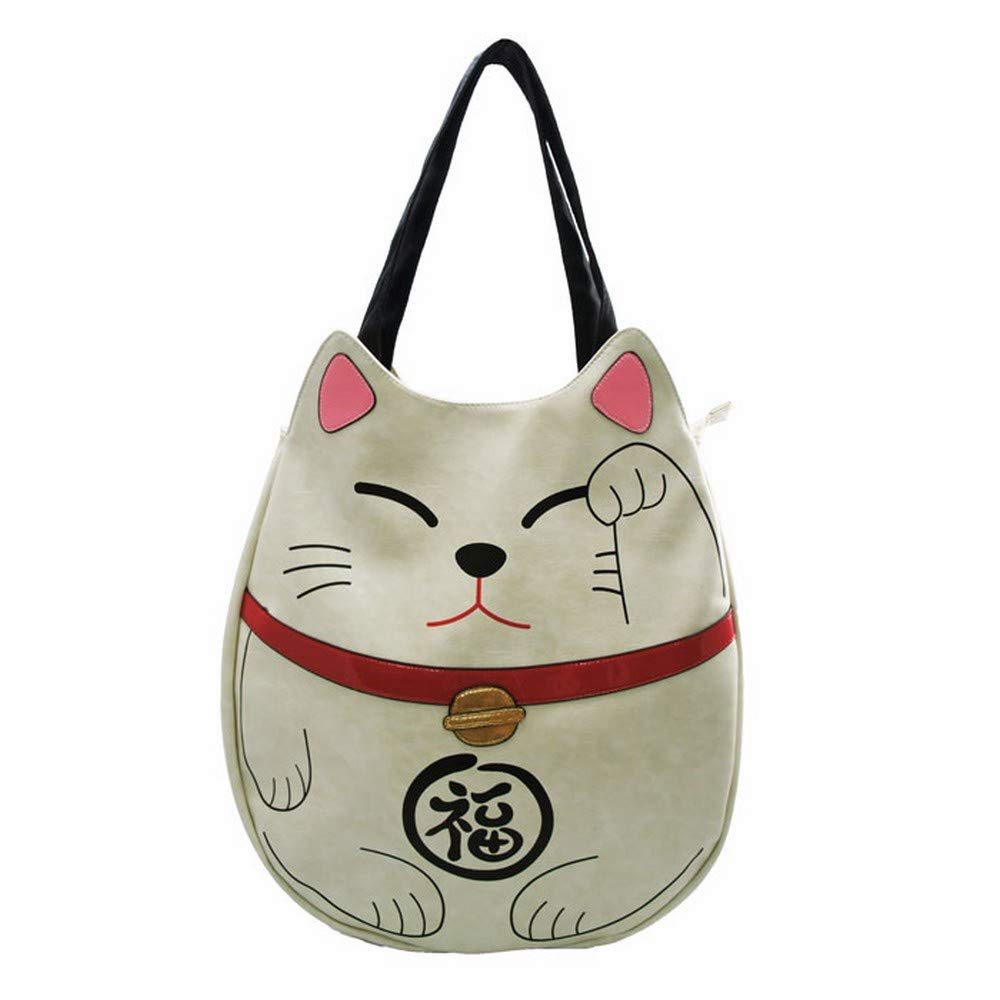 Sleepyville Critters - Lucky Cat Tote Bag