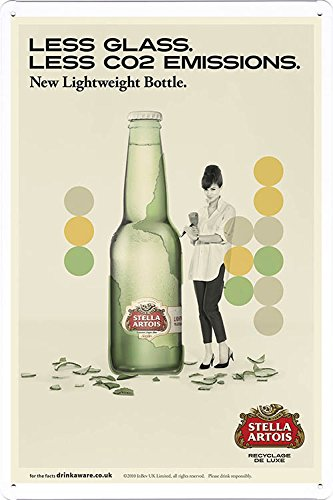 tin-sign-metal-poster-plate-8x12-of-stella-artois-beer-less-glass-by-food-beverage-decor-sign