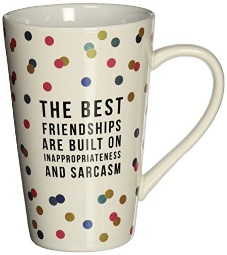 Pavilion Gift Company 75113 The Best Friendships Ceramic Mug, 18 oz, Multicolor