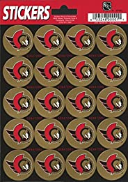 "Ottawa Senators Logo Sticker Sheet 5""x7"" Decals Licensed"