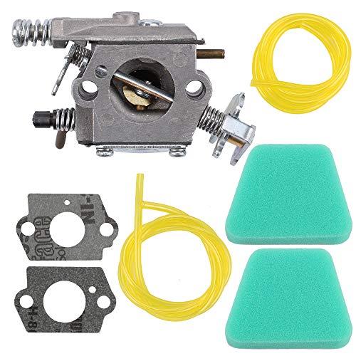 (Wellsking 530069703 Carburetor for Poulan 1950 2050 2250 2375 2550 Craftsman Chainsaw Walbro WT-89 WT-600 WT-624 WT-625 WT-891 Zama C1U-W8 C1U-W14 with Air Filter)