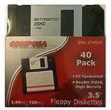 Floppy Diskettes 3.5'' 1.44mb 720kb 40 Pack