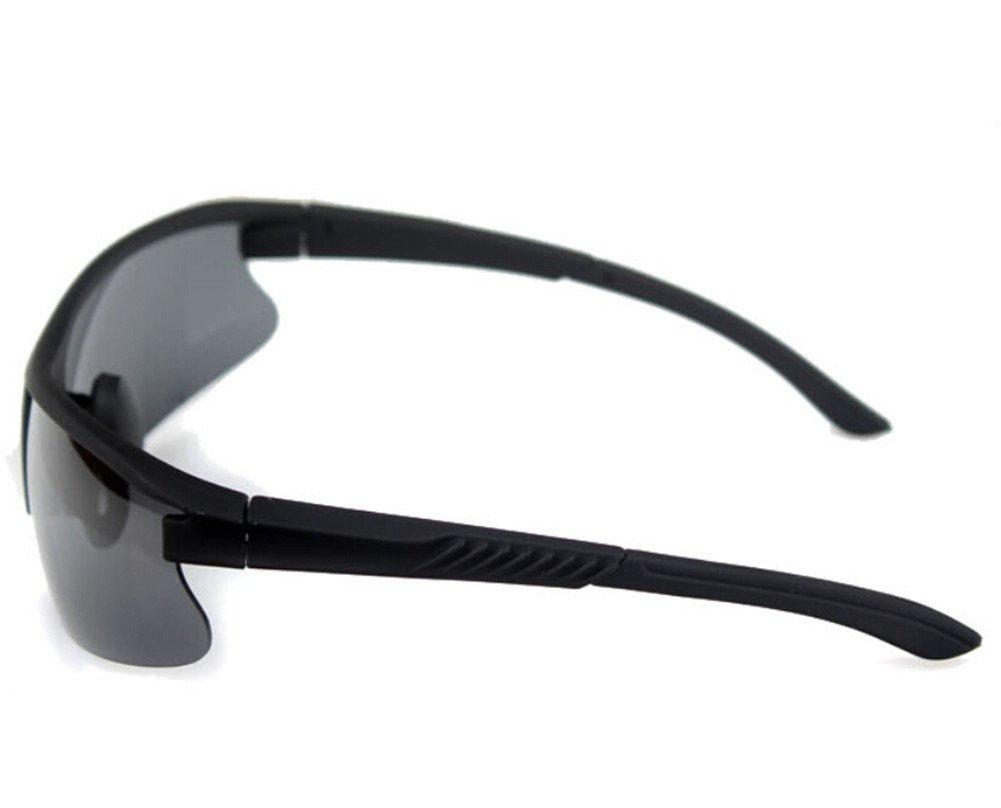 Moyishi Shatterproof PC Polarized Lenses Standard Aviator Outdoor Sports Sunglasses For Youth Men Women Unisex Black