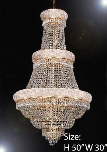 Swarovski Crystal Trimmed Chandelier! EMPIRE CHANDELIER LIGHTING W/ SWAROVSKI CRYSTAL! 30″x50″