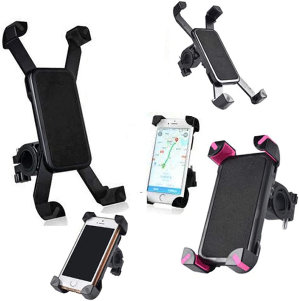 Cell Phone Stand 1pcs Bicycle Accessories Handlebar Clip Mount Bracket Mobile Phone Bike Holder Stand for iPhone 4 4S 5 5s 6 6s Plus Mobile Phone Holder Jiu Si Color : Black