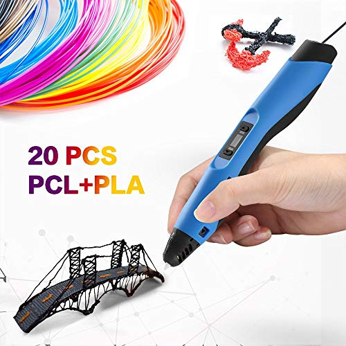 3D Printing Pen Professional for Drawing, Model Printing & Art Design - Art Pen/Crafting Pen with LCD Screen - 3D Craft Pen for Hobbyists, Crafters & Artists ()