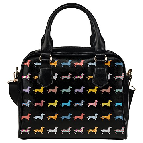 CASECOCO Black Dachshund Paw Print Aztec PU Leather for sale  Delivered anywhere in USA