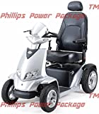 """Merits - Silverado Extreme - 4-Wheel Full Suspension Electric Scooter - 20""""W x 18""""D, Silver - PHILLIPS POWER PACKAGE TM - TO $500 VALUE"""