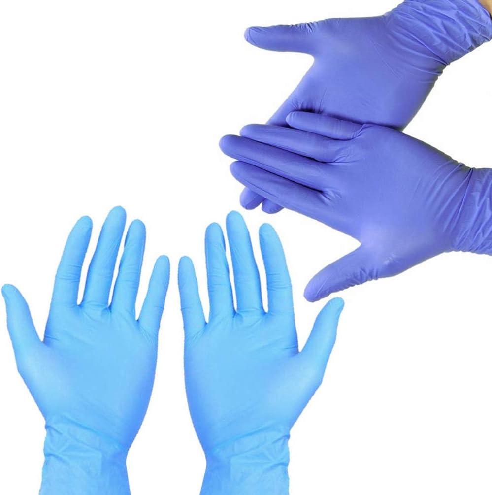 100 Piezas Violeta Exceart Guantes de Nitrilo Desechables Guantes Impermeables a Prueba de Aceite a Prueba de Aceite de L/átex para Limpieza Lavado Trabajo Cocina Examen Tama/ño XL