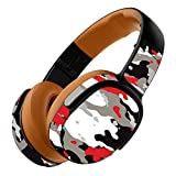 MightySkins Skin Compatible with Skullcandy Crusher 360 Wireless Headphones - Red Camo | Protective, Durable, and Unique Vinyl wrap Cover | Easy to Apply, Remove, and Change Styles | Made in The USA