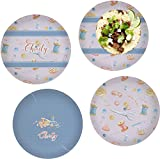 Sewing Time Set of 4 Lunch / Dinner Plates (Glass) (Personalized)