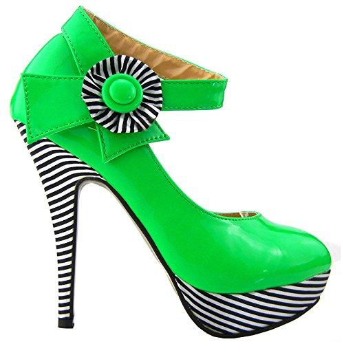 forme La Stiletto Montrer Plate Fleurs Cheville À Bride Vert Lf30404 De Histoire Sexy Chaussures Bande Pompes CwCgtnSqx