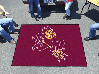 ter Rug 5x6 - Licensed Arizona State Sun Devils Gifts (Arizona State Tailgater Rug)