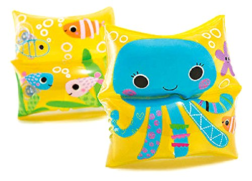 JEWELS FASHION 1 Pair Sea Buddy Arm Swim Bands - Perfect Learning Tool for Swimming - Design with Cute Super