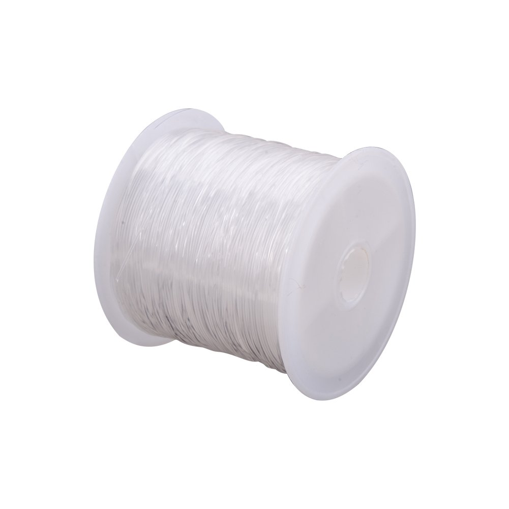 Pandahall 1 Roll Clear Fishing Thread Nylon Wire, about 0.5mm in diameter, about 20m/roll BHBUKALIAINH4391
