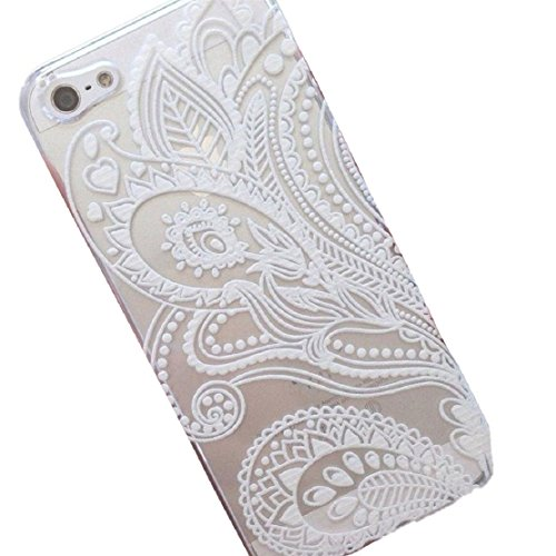 iPhone 6s Case, Lookatool® [Henna White Flower] Plastic Case Cover Skin