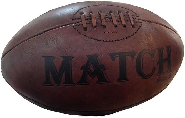 Cuero Vintage pelota de Rugby Ram - regalo, trofeo, presentación ...
