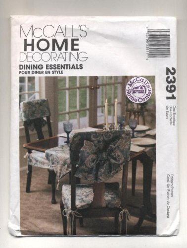 (McCalls Home Decorating Dining Essentials Tablecloth, Chair Cover, Napkins, Placemat and Table Runner Sewing Pattern # 2391)