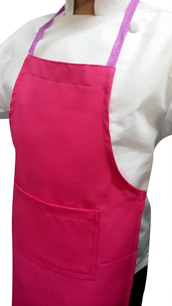CHEFSKIN Lot Apron LOT Wholesale LOT of 5, HOT Pink Medium (8-12)