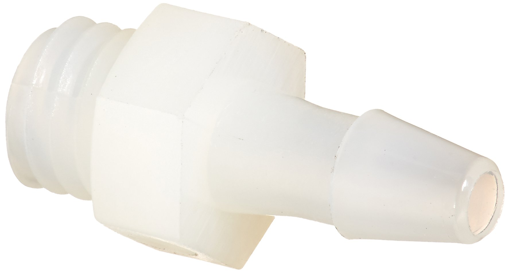 Eldon James A1032-1.5-200NN Natural Nylon Adapter Fitting, 10-32 UNF to 3/32'' Hose Barb (Pack of 10) by Eldon James
