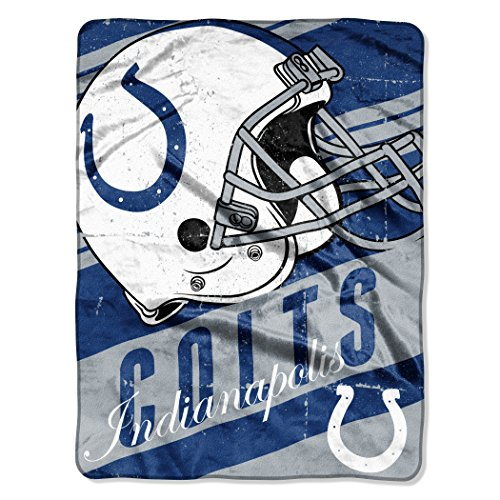 (The Northwest Company NFL Indianapolis Colts Deep Slant Micro-Raschel Throw, Blue, 46 x 60-Inch )