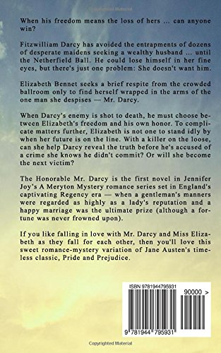 The honorable mr darcy a pride prejudice variation a meryton the honorable mr darcy a pride prejudice variation a meryton mystery volume 1 jennifer joy 9781944795931 amazon books fandeluxe Gallery