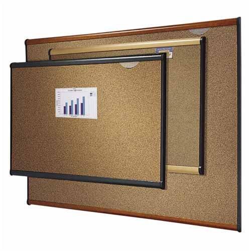 o Quartet o - Bulletin Board, 6'x4', Light Cherry Frame