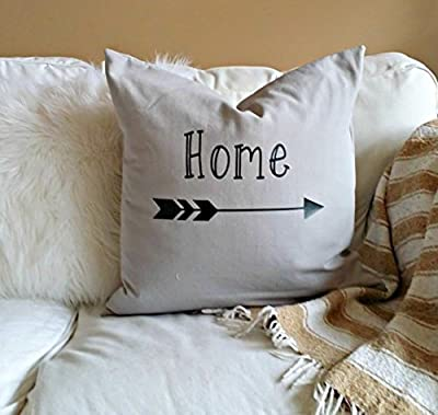 Home Pillow Cover - Black and Grey - fits 16x16 - arrow gift Once Upon A Time Decor, Baby Girl Decor, Princess Decor