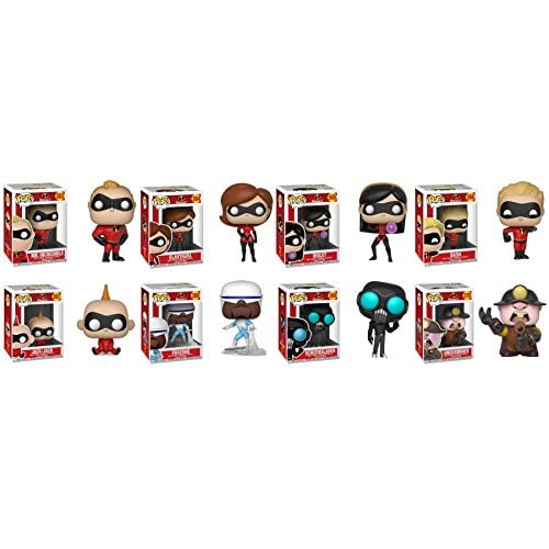 FunkoPOP Incredibles 2: Mr. Incredible + Elastigirl + Violet + Dash + Jack-Jack + Frozone + ScreenSlaver + Underminer – Disney Pixar Stylized Vinyl 8 Figure Bundle Set NEW