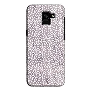 Cover It Up - Purple Pebbles Mosaic Galaxy A8 2018 Hard Case