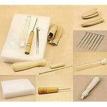 6pcs/1set fibre Needle Felting Starter Kit Wool Felt Tools Mat + Needle +Awl+ finger stall+Accessories Craft
