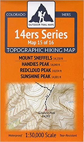 Mt Colorado 14er Topo Map Sneffels Model