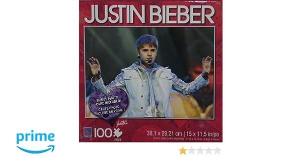 Amazoncom Justin Bieber Silver Jacket 100 Piece Puzzle wPhoto