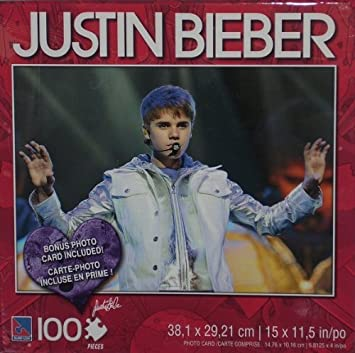 Buy Justin Bieber Silver Jacket 100 Piece Puzzle wPhoto Card
