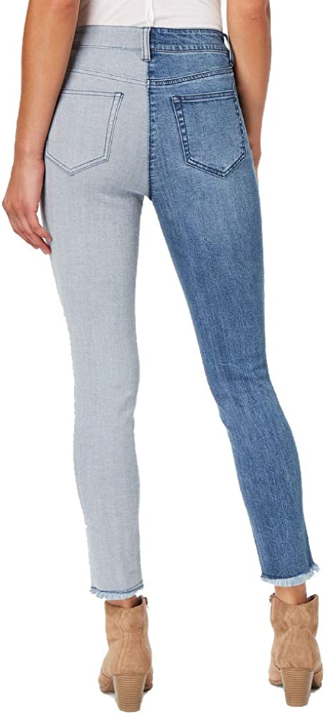 dollhouse Juniors Two-Tone Ankle Skinny Jeans