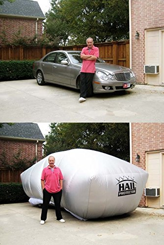 "best christmas presents for dad , Patented HAIL PROTECTOR Car Cover System (ANY SIZE HAIL, ENTIRE VEHICLE, REMOTE CONTROLLED, FREE MOBILE APP) for Sedans, Hatchbacks and Wagons up to 175"" in length (6 Sizes)"