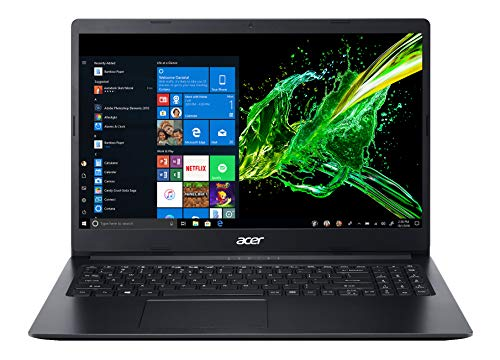 Acer Aspire 3 Slim A315-22 (A4-9120 , 4GB , 1TB , INT , 15.6'HD , Windows 10, Black) 1.9 Kg Thin and Light
