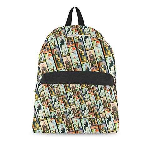 - Haunted Mansion Stretch Paintings Backpack All-Over-Print