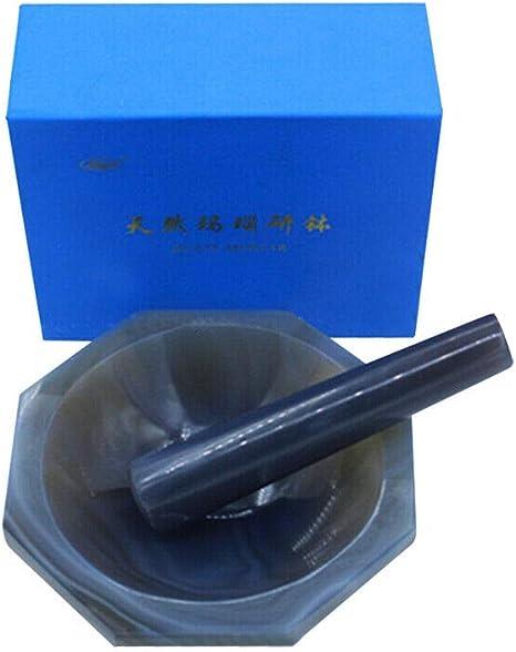 90 mm diametro interno = 100 mm Mortaio e pestello in agata naturale per macinazione in laboratorio 70 mm 80 mm 60 mm 50 mm.