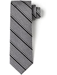 "<span class=""a-offscreen"">[Sponsored]</span>100% Silk 2.5"" Skinny Tie Handmade Men's Splattered Striped Necktie"