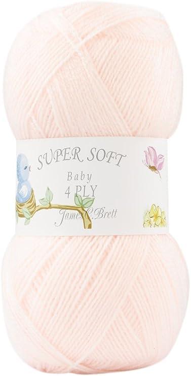 100g BALLS OF CYGNET 4 PLY Knitting Wool Yarn Kiddies Supersoft Baby White 4ply