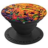 Stained Glass Temple Art For Back To School - PopSockets Grip and Stand for Phones and Tablets