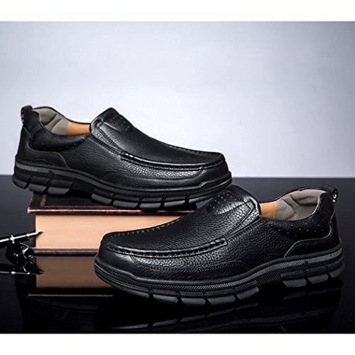 Autumn Melody Fashion Casual Business Genuine Leather Large Size Men Shoes Size 13 US Black by Autumn Melody (Image #1)