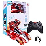 Wall Climber Zero Gravity Mini USB Remote Control Racer Vehicle Drive Up Any Smooth Surface, Boy's Birthday Party Gift Electrical RC Red Driving Car (Instruction Guide Included)