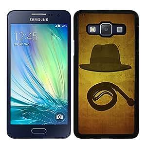 Funda carcasa para Samsung Galaxy A5 diseño sobrero y látigo borde negro