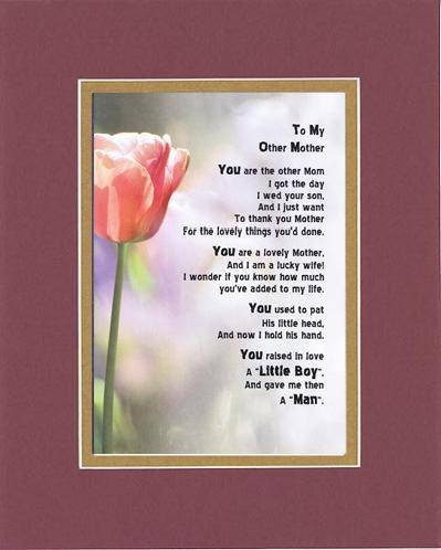 Touching and Heartfelt Poem for Mothers - To My Other Mom...