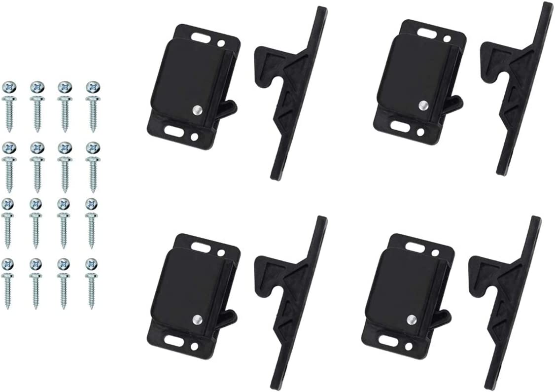 Details about  /4 Grabber Catches 10LB Pull Force Doors Drawer Cabinet Latches Baby Proof Sturdy