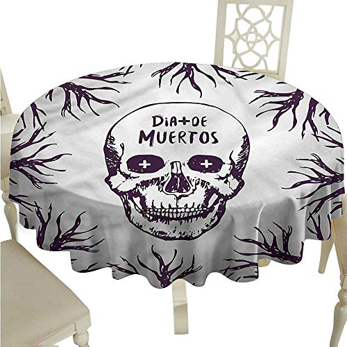 ScottDecor Picnic Cloth Mexican,Spooky Gothic Halloween Picnic Cloth Round Tablecloth D 36