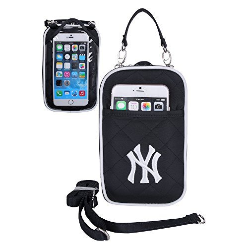 MLB New York Yankees Crossbody Bag Quilt-Embroidered Logo-Fits All Phones- Charm14-Little Earth